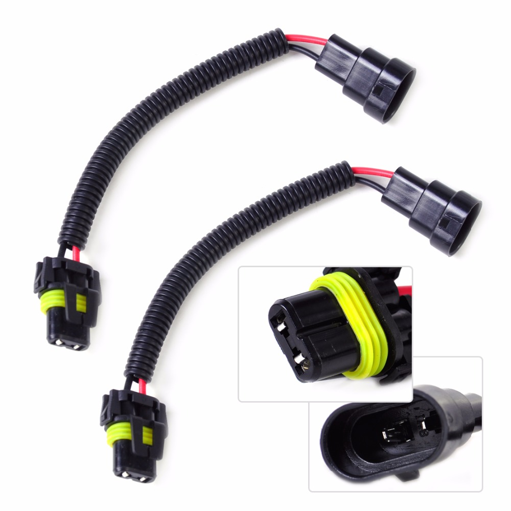 2Pcs Car Acc PVC Plastic Nylon Extension Adapter Wiring Harness Socket Wire Connector for HB4 9006 search on aliexpress com by image nylon wiring harness at panicattacktreatment.co