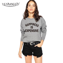 Buy H1011 2016 Autumn Women Clothing Hoodies Sweatshirts Letter Hoodie Gray Hoody Sweatshirts Women Puiiover Hoodies for $7.59 in AliExpress store
