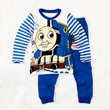 hot sell Thomas boys clothing cartoon boys clothes pajamas kids cartoon sleepwear knitted pajama sets toddler clothes suits