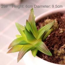 งานแต่งงานสวนห้องนอนห้องนั่งเล่นตกแต่งพืชประดิษฐ์ Mini Succulents พืช 33 สไตล์ Pick Up พืชปลอม(China)