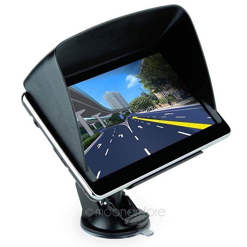 Hight Quality 7 inch Car GPS Truck Navigation MTK 4GB Capacity UK EU AU NZ Maps Speedcam POI with Sunshade FYDA1110(China (Mainland))