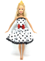 NK 2016 Newest Dolloutift Beautiful Handmade Party Clothes Top Fashion Dress For Barbie Noble Doll Best Child Girls'Gift 014A