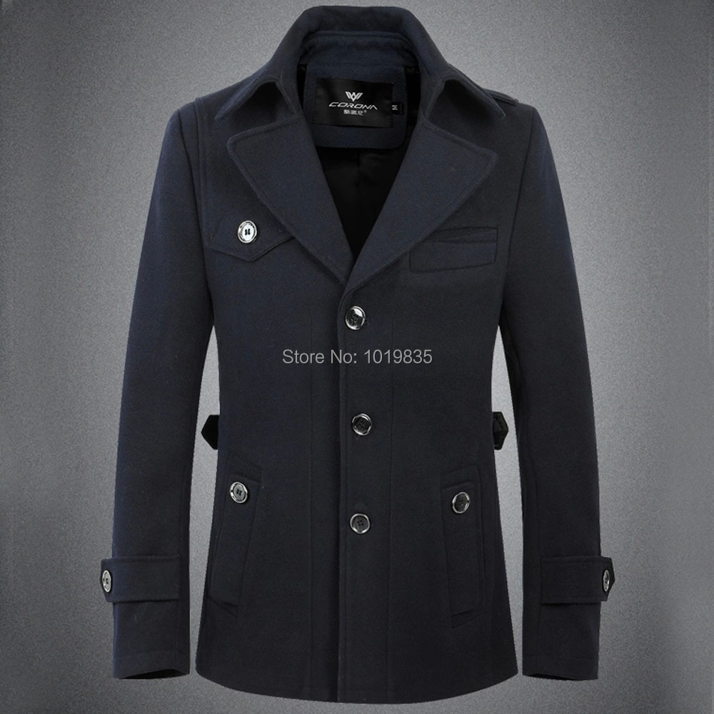 Здесь можно купить  Men Single Breasted Trench Coat Wool Blend Jacket Outerwear Slim Fit Navy/Khaki Men Single Breasted Trench Coat Wool Blend Jacket Outerwear Slim Fit Navy/Khaki Одежда и аксессуары