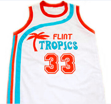 Jackie Moon Flint Tropics Semi Pro Movie Basketball Jersey, Stitched 7 coffee black jersey Green/White S to XXXL Free Shipping(China (Mainland))