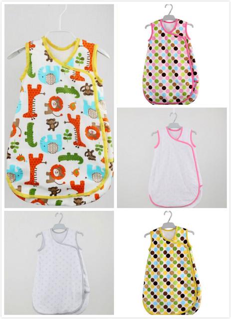 Новорожденный спальный мешок флиса стиль детские одежда спальные bagsКороткий рукавами ...