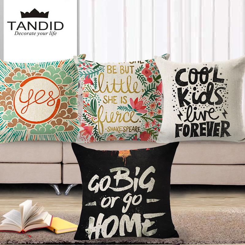 Creative Letter Cushion Cover Linen&Cotton Housse Coussin Sofa Throw Pillows Almofada Cushion Cover Home Car Decor(China (Mainland))