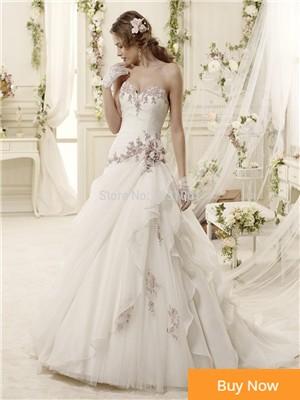 Luxo Frisada Tulle Da Sereia Vestidos de Casamento 2017 Elegante Querida Apliques Ruffles Vestido de Noiva Vestido De Noiva princesa luxo