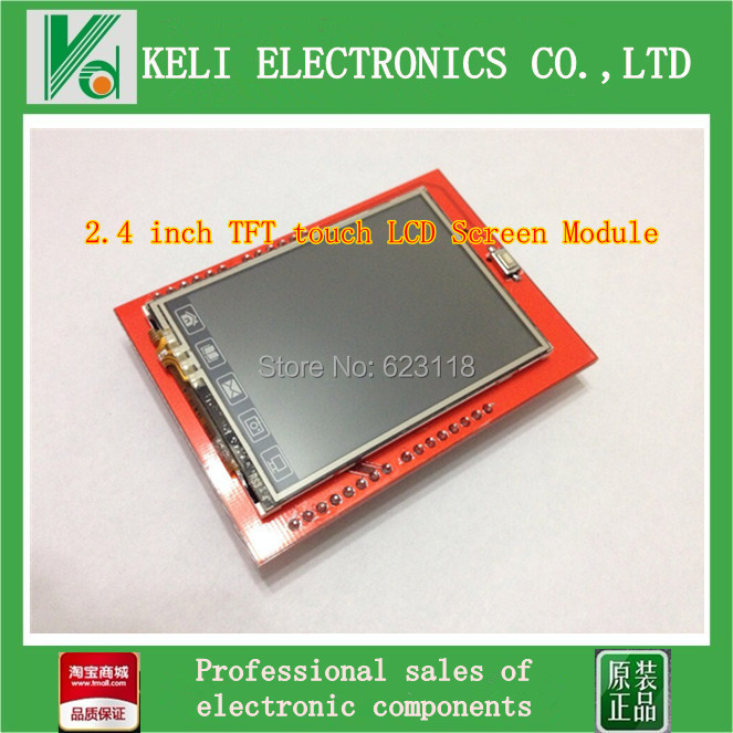 Free Shipping 1pcs UNO 2.4 inch TFT touch LCD Screen Module For Arduino UNO R3(China (Mainland))