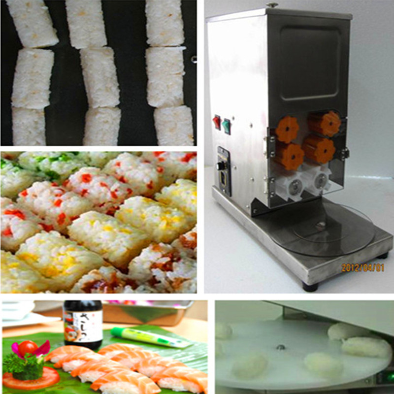 Sushi rice roll molding machine