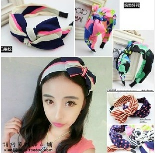 Free shipping hair accessories for women New design princess headband Fine hair loops Nice bow hairbands Korean style(China (Mainland))