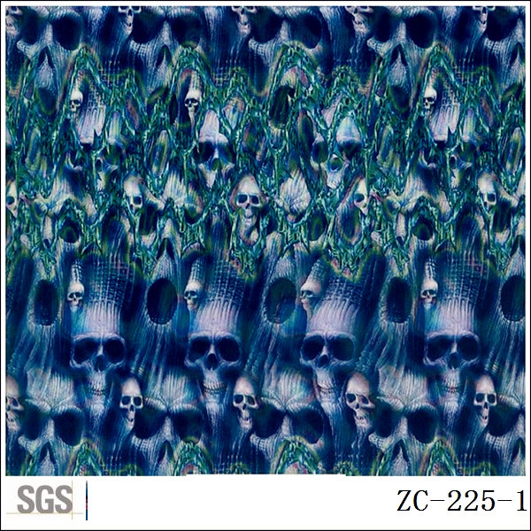 Free shippinng hydrographic colorful skull Water Transfer Printing Film(China (Mainland))