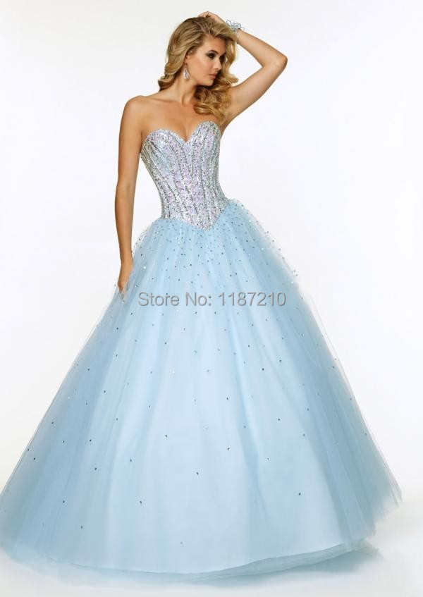 Moder Baby Blue Quinceanera Dresses Gowns 2015 Cheap Long