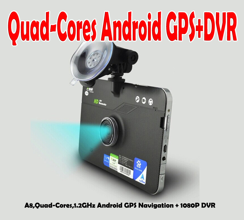 Quad-Cores Android 4.0 Car GPS Navigation with HD1080P Car Camera Recorder Superior Android GPS PND with 1080P Car DVR(China (Mainland))