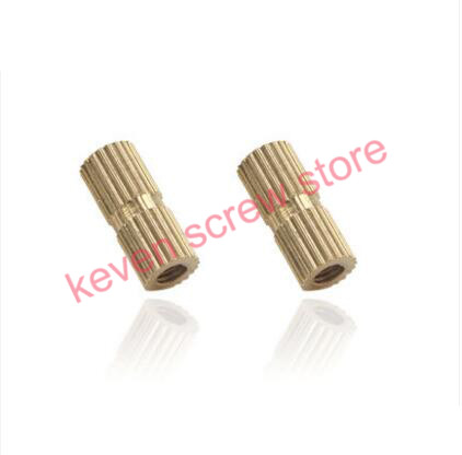 100PCS M8x10-10MM Copper inserts Injection nut embedded parts copper knurl nut Brass Insert Round Nut Thumb Nut(China (Mainland))