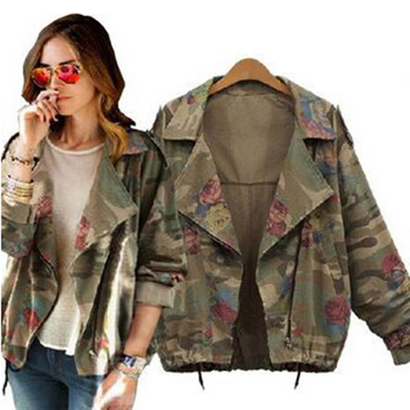 Wholesale-Women Camo Jacket Desert Camouflage Coat Utility Outdoor ...