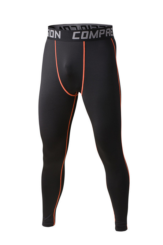 Men running compression pants high elastic spandex cycling basketball pants under skin tights base layers athletic