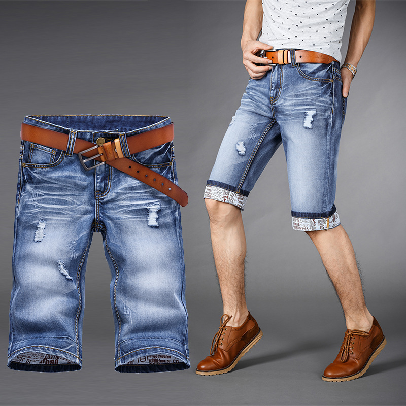 2015 short men jeans summer shorts jogger bermuda masculina ripped Denim shorts jeans men casual cotton shorts sport Plus Size(China (Mainland))