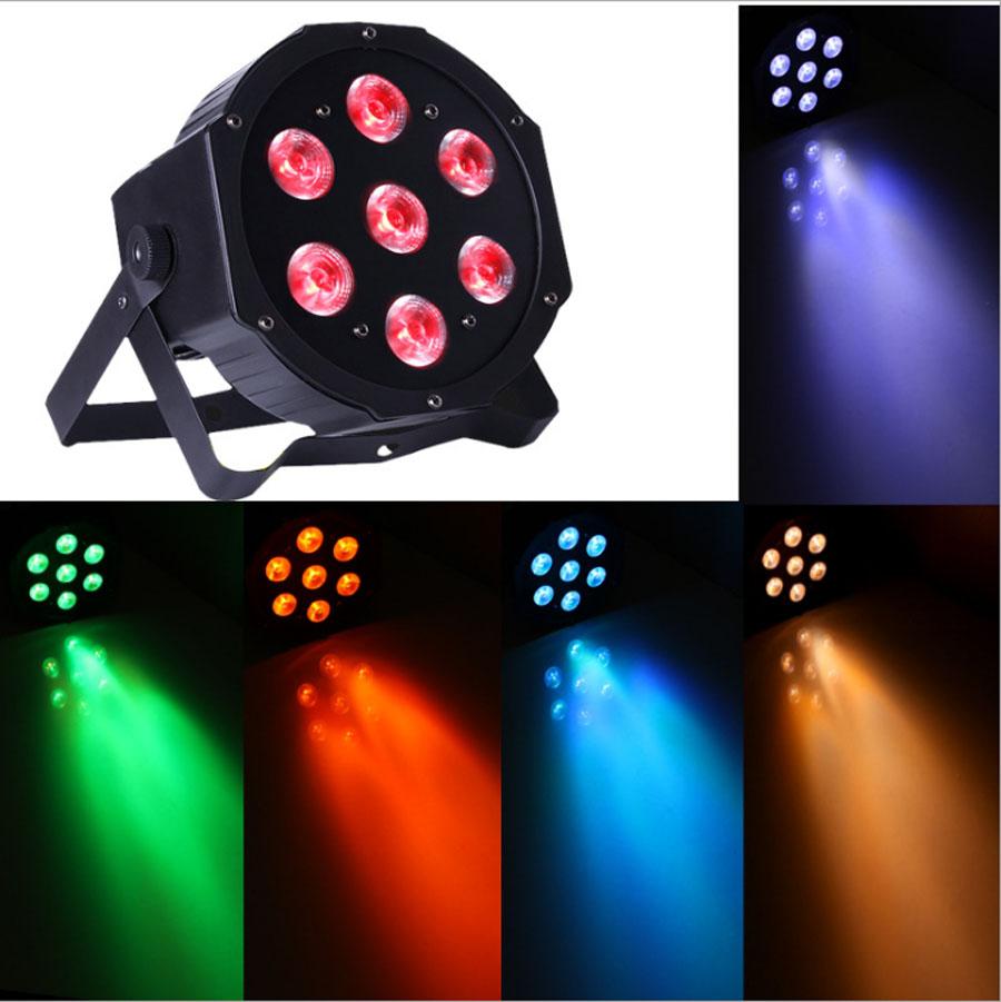 2PCS 7*10W Led Stage Light,RGBWA 5IN1 LED Par party Light,Disco DMX512 Par Led 70W DJ Equipments AC90-240V