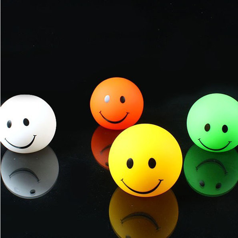 Kitop Lovely Round Smile Face LED night light lamp, changable color Smiling led night light For Baby / Children gift toy(China (Mainland))