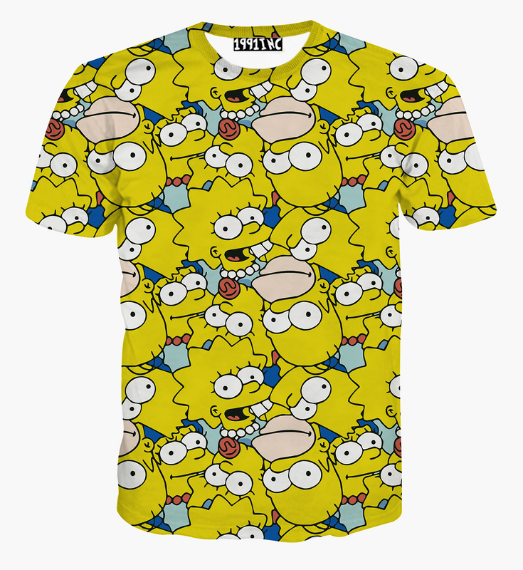 The Simpsons Home T Shirt For Men 3d Cartoon Bart Simpson