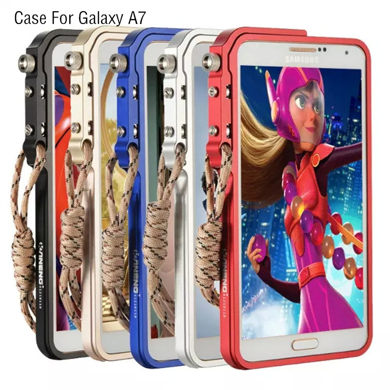 A7 Premium Tactical Edition Armor Metal Aluminum Frame + Arcylic Back phone Cover shell case Bumper for Samsung Galaxy A7 A7000(China (Mainland))