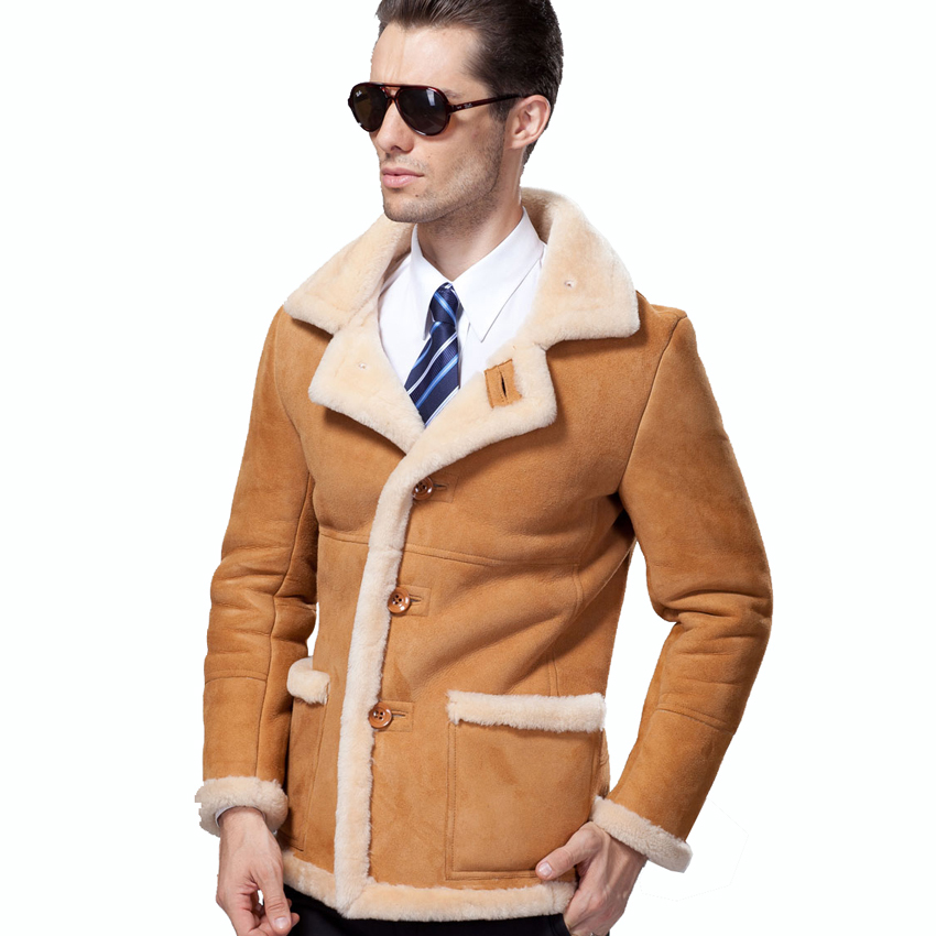 Mens Suede Shearling Coat - Coat Nj