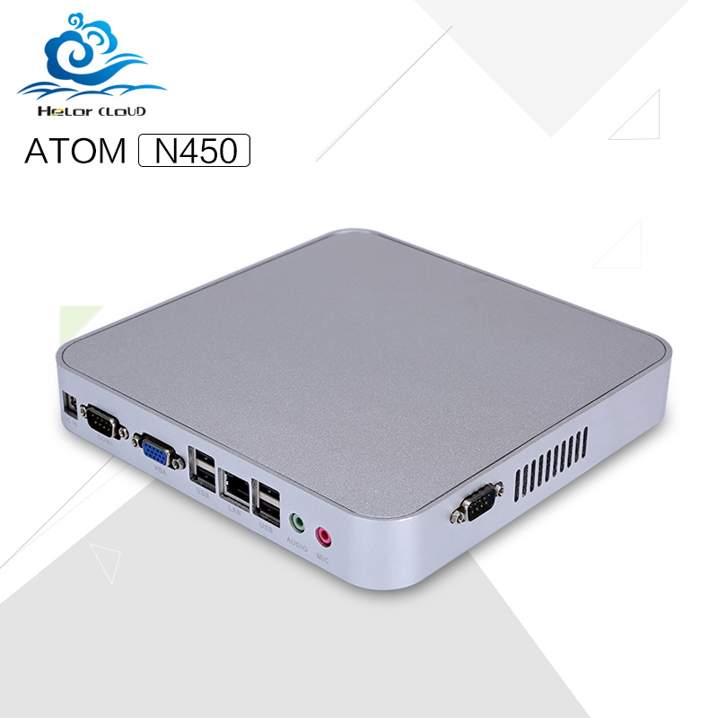 DHL Freeship Low price Mini desktop pc Atom N450 1.66GHZ Single Core Two thread Windows XP 7 8 Linux with wifi hdmi vga<br><br>Aliexpress