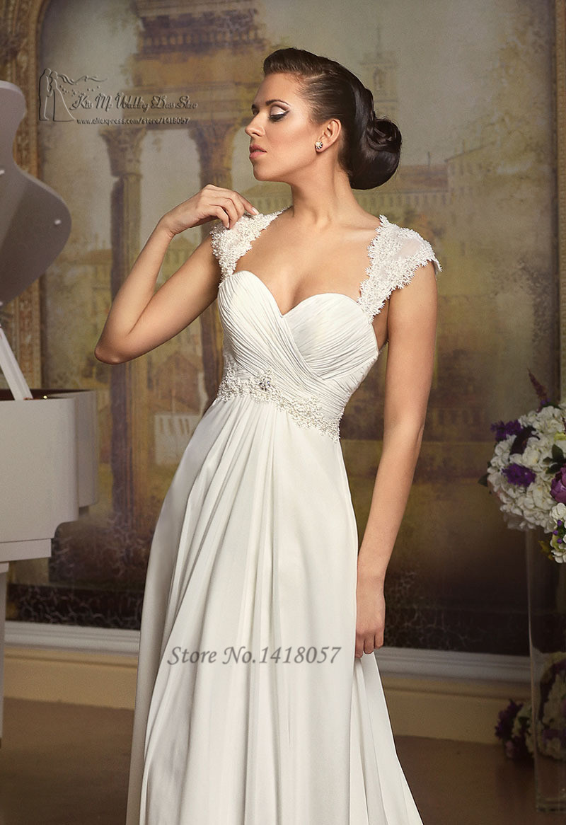 Buy simple cheap beach wedding dress lace for Cheap simple plus size wedding dresses