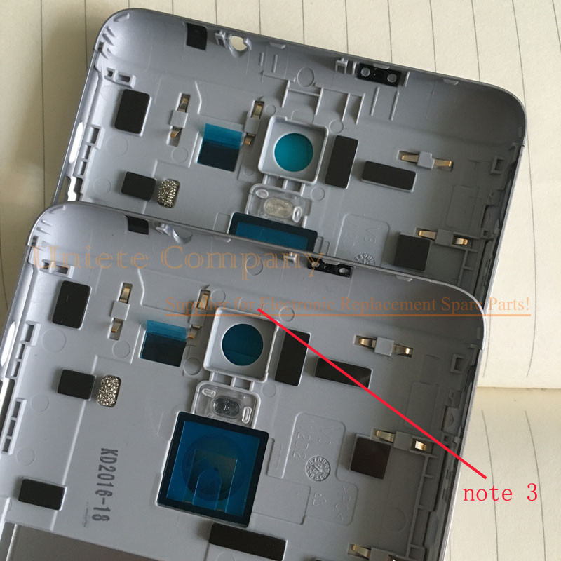Original Spare Parts for Xiaomi Redmi Note 3 Back Battery Cover Door Housing + Side Buttons + Camera Flash Lens Replacement