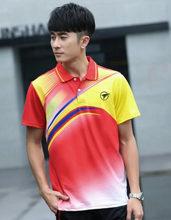 Camiseta de bádminton transpirable de secado rápido de marca deportiva, camisetas Polo de entrenamiento de ejercicio deportivo para hombres y mujeres(China)