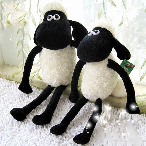 Free shipping 12pcs/lot 25cm Cute Shaun the sheep lamb stuffed soft toys wholesale Christmas gift bag sends kids,Best gift(China (Mainland))