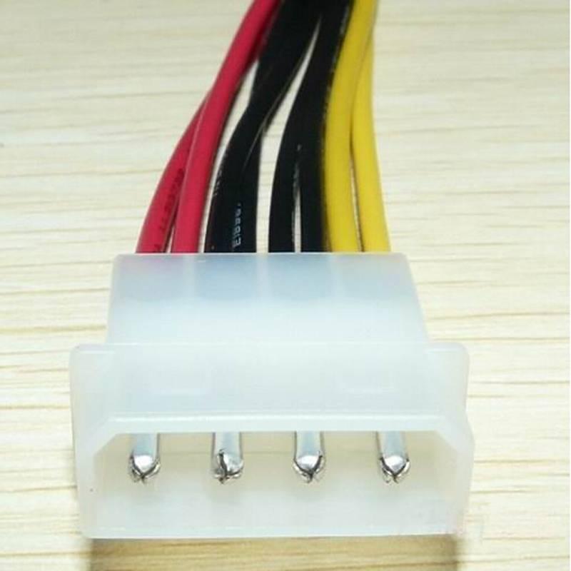 2016 New SALE 4 Pin IDE Molex to 2 Serial ATA SATA HDD Drive Power Adapter Cable 1PC(China (Mainland))