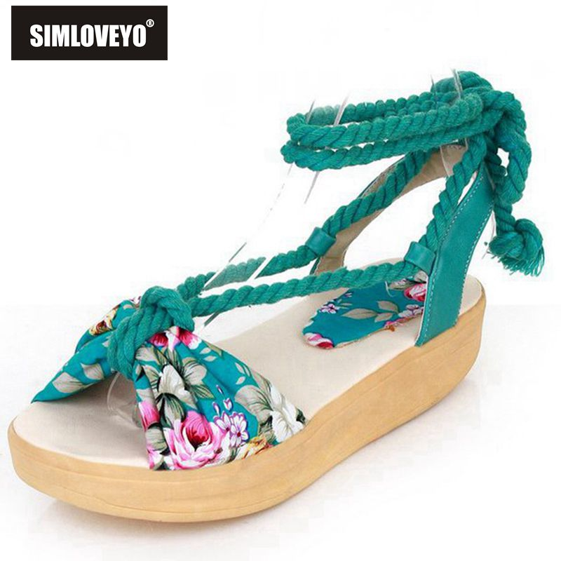 Women Platform shoes sandals New fashion brand Summer style Women shoes Mid heels Flower Summer sandals for ladies Sweet 3 Color(China (Mainland))