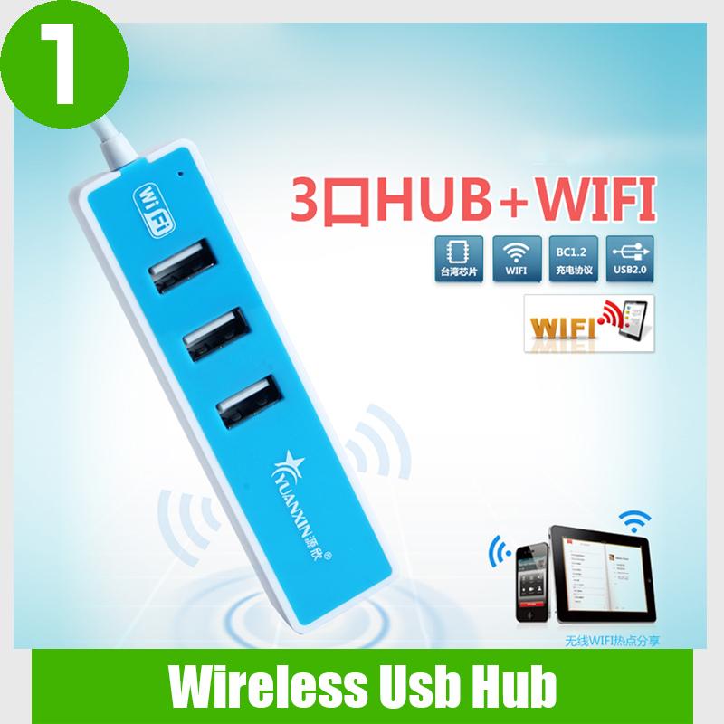 2015 New originality wireless usb hub laptop mobile working mini usb hub 2.0 wireless transmitter with 3 ports usb hub(China (Mainland))