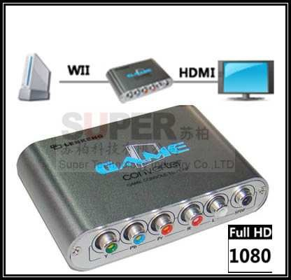 change for Wii to HDMI,game player for Wii video converter,support 1080P HDMI convertor,Allowing connection for wii to HDTV(China (Mainland))