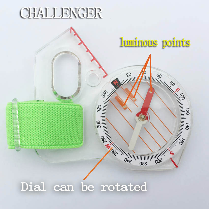 Outdoor professional thumb compass elite competition orienteering compass portable compass map scale compass free shipping(China (Mainland))