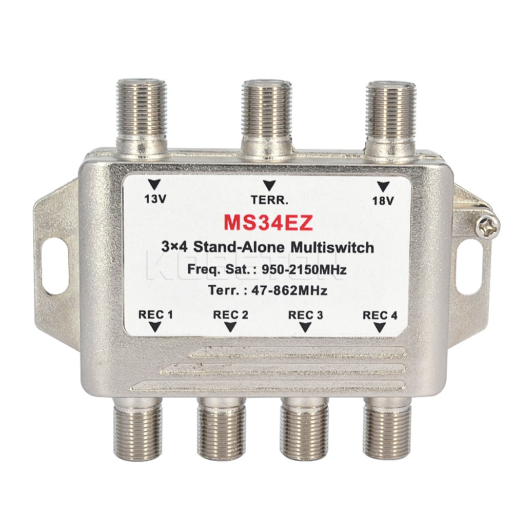 2016 Hight Quality MS34EZ 3x4 Satellite MultiSwitch Splitter FTA TV LNB Switch for TV Satellite Receiver(China (Mainland))