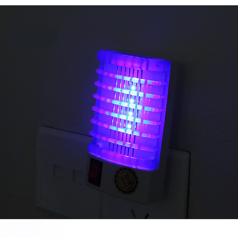 2pcs/lot 2015 mini mosquito killer lamp LED Socket Electric Mosquito Fly Bug Insect Trap Night Lamp Killer Zapper(China (Mainland))
