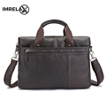 IMRELAX Top Quality Genuine Leather Business Man Bags Cowhide Top Grain Cow Leather Handbags Crossbody Bags
