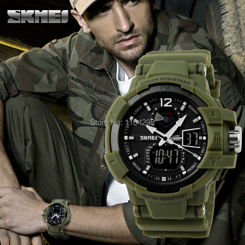 Гаджет  Fashion s shock  Men Boy Sports Watches SKMEI  LED Digital Quartz Multifunction Waterproof Military  g ift Dress Wrist watches None Часы