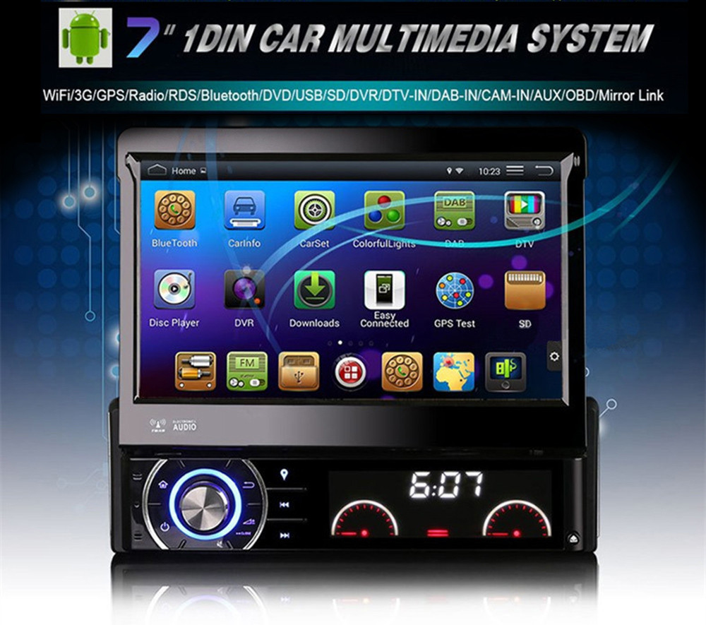 Universal Quad Core Android Car DVD 1 DIN Car Video Player WIFI GPS Navi Handfree Call Car DVD Del Coche In-dash Android Car PC(China (Mainland))