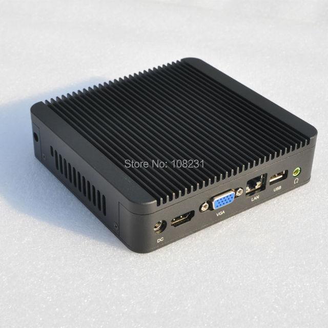 QOTOM Tiny computer Q100N 12 X 12 CM, Dual Core Mini PC Preinstall Win 7 Ult, celeron 1037u mini computer with 2GB RAM and SSD