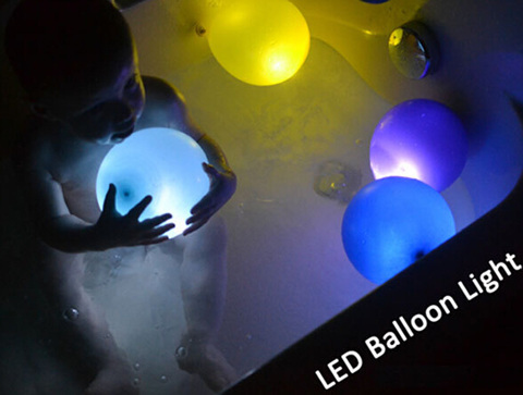 50x Paper Lanterns Balloons Light RGB LED Party Lights Waterproof outdoor LED Light Wedding Party Blinking Lights(China (Mainland))
