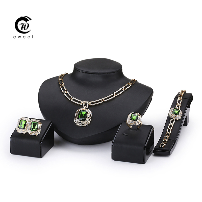 Fine African Beads Jewelry Sets Crystal Necklace Set Nigerian Wedding Accessories Bridal Collares Costume Necklace Earrings Set(China (Mainland))