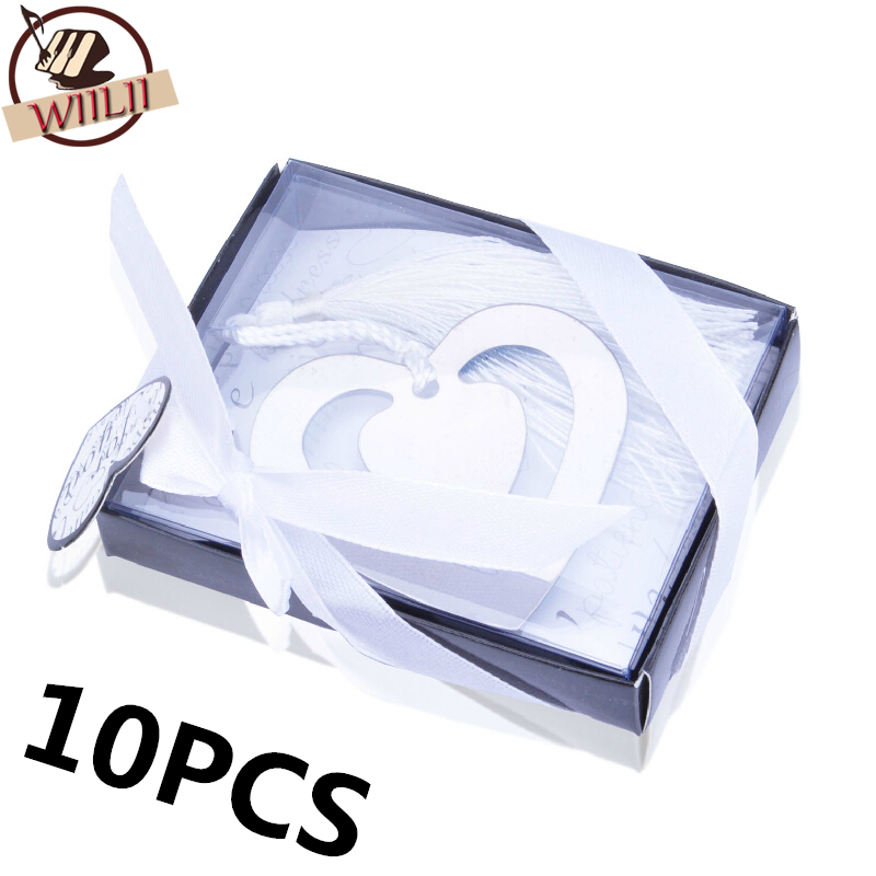 10PCS Bulk My Heart Bookmark Party Favours Souvenirs First Communion Birthday Baby Shower Wedding Favors and Gifts For Guest(China (Mainland))