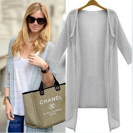 women fashion Summer Cardigan heart Three quarters Sleeve Sweater femininas Cardigans women's coats cheap Sweaters 2015(China (Mainland))