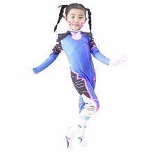 Oyun OW D. R e r e r e r e r e r e r e r e r e r e Dva Cosplay kostüm Hana şarkı seksi 3D baskı Bodysuit yetişkinler çocuklar Lycra Spandex kostüm(China)