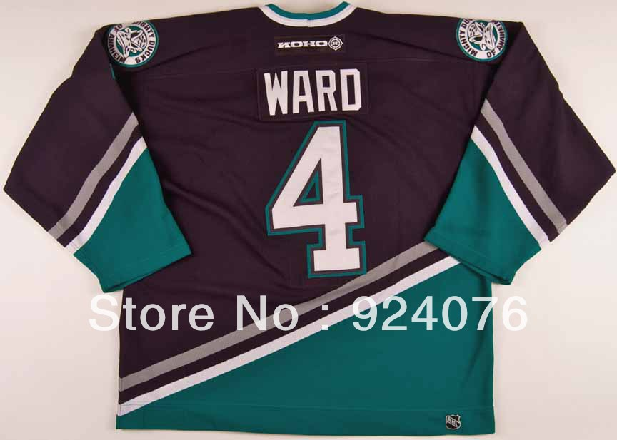 2002-03 Lance Ward Ice Hockey Anaheim Mighty Ducks Game #4 KOHO Jersey - Customized Any Number &amp; Name Sewn On (XXL-6XL)<br><br>Aliexpress