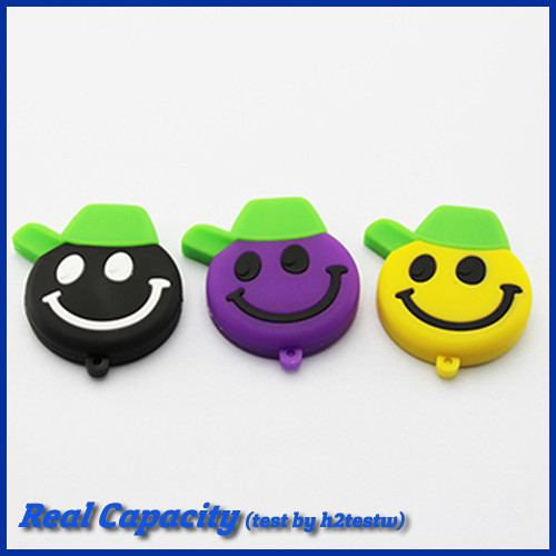 Free shipping cute pendrive smile face usb flash drive 32gb memory usb stick pen drive 4gb 8gb 16gb 32gb(China (Mainland))