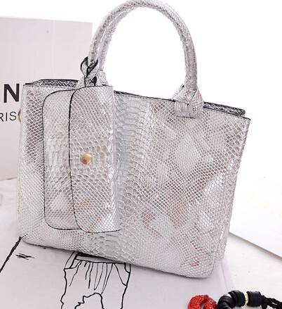 Fashion Large Capacity Brief Crocodile Pattern Shoulder Bags Snakeskin Decorative - MG Luggage family store